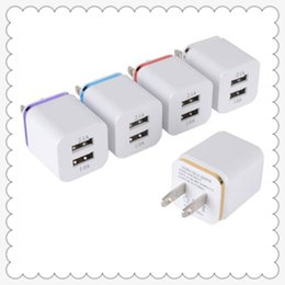 Iphone 4s Usb Adapter Canada - Universal 2.1A US Dual USB AC Power Adapter Wall Charger Plug 2 port for IPAD mini air Ipod iphone 4 4s 5 5s 5v MQ200