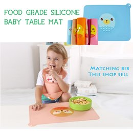 silica gel table mat waterproof soft safety heatproof easy to fold portable easyclean cartoon pattern babies prefer to eat