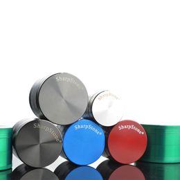 $enCountryForm.capitalKeyWord Australia - 4 Parts Sharpstone 55mm Grinder Tobacco Grinders Metal Herbal Grinders for Smoking Grinders 6 Colors Black Light Balck Red Silver Green