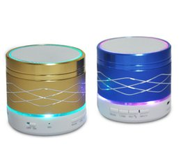 China SA20 LED Mini Wireless LED Bluetooth Speaker Hi Fi Music Player Micro SD TF Micro USB Earphone Port Stage Party Speakers LED Light Wholesale suppliers
