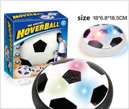 $enCountryForm.capitalKeyWord Australia - 2017 Air Power Soccer Disc Suspended Football with EVA Bumpers LED Light up Hover Disk Gliding Ball Children Disc Toy for Indoor And Outdoor