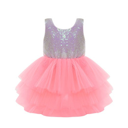 China New Toddler Clothing Baby Girl Clothes Flower Girl Dress Kids Princess Party Dress Fashion Girls Tutu Sequins Lace Pageant Wedding Dresses cheap natural toddler pageants suppliers