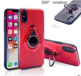 Christmas Gifts X Canada - Christmas gift 360 Clear Ring Holder Magnetic Car Holder Shockproof Armor TPU PC Case Cover for iPhone X 8 7 6 6S Plus Samsung Galaxy Note 8