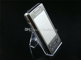 $enCountryForm.capitalKeyWord Canada - 20pcs lot Acrylic cell phone display stand clear mobile phone mounts holder for mp3 4 5 DV GPS phone good price free shipping