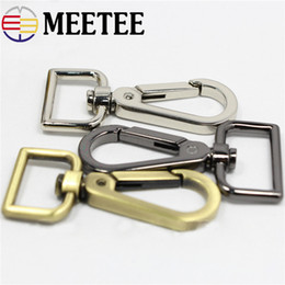 China Meetee Bag Clasp Hook Metal Paracord Clip Buckles Square Golden Handles for bag Handbags Luggage Hardware Accessories cheap bag handle clips suppliers