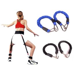 Basketball Fitness Equipment Canada - Resistance Band Fitness Bounce Trainer Rope Basketball Tennis Running Jump Leg Strength Agility Training Strap Fitness Equipment