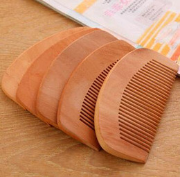 health hair care Canada - 1000pcs Hair Styling Tool Free Shipping Wooden comb natural health cherry wood comb anti-static care cherry wood comb