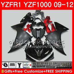 Pink fairings online shopping - Body For YAMAHA YZF R YZFR1 Gloss black Bodywork NO65 YZF1000 YZF R1 YZF YZF R1 Fairing