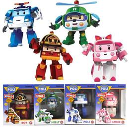 Discount poli car toys - Robocar poli deformation car bubble toys 4 styles mix police car fire truck ambulance helicopter robocar poli