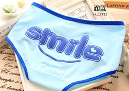 Barato Doces Calcinhas Renda-Mulheres Roupa interior Panties Meninas Lovely Character Cartoon Printed Candy Cor Soft Cotton Slip Mulheres Underpants