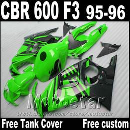 $enCountryForm.capitalKeyWord Australia - Popular body kits for HONDA CBR600 F3 fairings 1995 1996 green black custom fairing kit CBR 600 95 96 ZB87