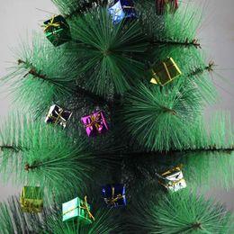 new creative 12pcs set gift boxes shape funny christmas tree hanging ornament xmas decoration colorful christmas decorations - Funny Christmas Tree Ornaments