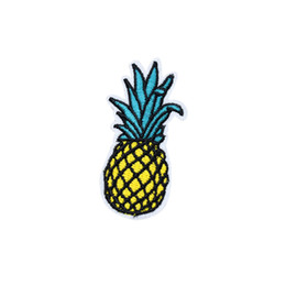 kids iron patches for clothes Canada - 10PCS Ananas Patches for Clothing Iron on Transfer Applique Patch for Kids Garment DIY Sew on Embroidered Accessories