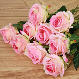 $enCountryForm.capitalKeyWord Canada - 20pcs lot HI-Q real touch rose Artificial Flowers slik Flowers Home decorations for Wedding Party or Birthday, photography
