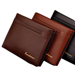 $enCountryForm.capitalKeyWord Canada - Fashion New Qulaity PU Leather Men Wallets 3 Fold Business Short Style Design Black Coffee Photo Bit Card Holder Purse Wallet Free Shipping