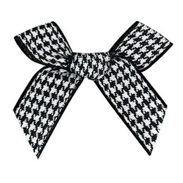 $enCountryForm.capitalKeyWord NZ - 9mm Gingham ribbon bow,Gift packaging,children's clothing accessories100pcs