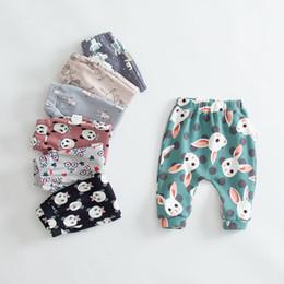 Animal Geometry Canada - Autumn Pants for Kids Animal Character Geometry Print Boys Girls Children Pants Harem Pants Baby Girls Leggings Loose 9-24M