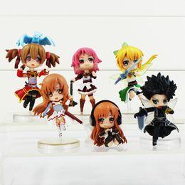 kids fairy toys 2019 - Sword Art Online 4-8.5cm Fairy Dance Kirito Asuna Lefa PVC Action Figures 6pcs set Toys Best Gift For kids Free Shipping