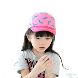 Chapeau En Forme D'étoile Pas Cher-New Mode Casquette de baseball Rhinestone Star Shaped Boy Girls Baby Enfants Mesh Tennis Hat Baby Hat Printemps et été Baseball Cap