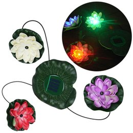 China Solar Power Color Changing Floating LED Lotus Light Flower Lamp Floating Pond Garden Pool Nightlight Floating Pond Lamp supplier solar floating lotus light suppliers