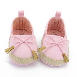 $enCountryForm.capitalKeyWord Australia - Wholesale- Toddler Kids Girls Flower Soft Soled Crib Shoes Canvas Baby Shoes Newborn 0-18M