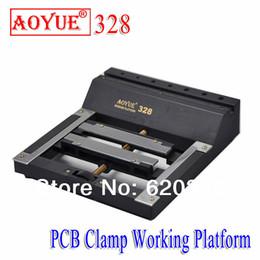 Discount pcb circuit board repair - Free Shipping AOYUE 328 BGA Hot air gun Working Platform circuit board repair fixture PCB phone Rework Platform ESD Mate