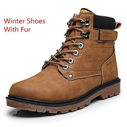 Ankle High Cowboy Boots Men Canada - Brown boot XiaGuoCai Autumn Winter Men Tooling Boots High Top Lace Up Army Ankle Boots High Quality Male Martin Boots Men's Footwear