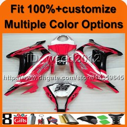 $enCountryForm.capitalKeyWord NZ - Custom-color+8Gifts Injection mold motor cover RED with decals cowling kit ZX10R 2011 2012 ABS motorcycle fairing for Kawasaki Ninja