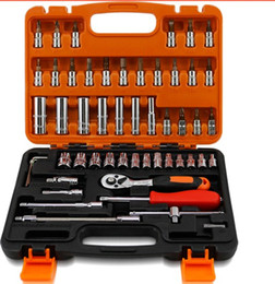 Car Repair Wrenches Set Canada - Hot Sale Worth to buy Spanner Socket Set Car Repair Tool Ratchet Wrench Set hand tools Combination Household Tool Kit270*195*55MMT01004