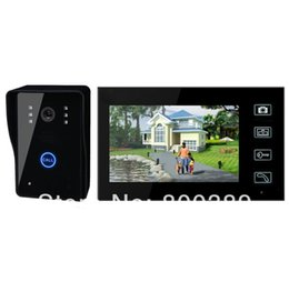 """Wireless Door Key Canada - 7"""" TFT Wireless 2.4GHz Digital Video Door Phone IR Camera with 6-LED for Night Vision Doorbell Intercom System With Touch Key"""
