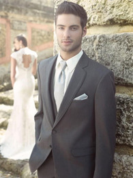$enCountryForm.capitalKeyWord Canada - New Style Two Buttons Charcoal Grey Groom Tuxedos Notch Lapel Groomsmen Best Man Mens Wedding Suits (Jacket+Pants+Vest) NO:253