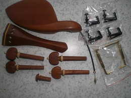 Violin Tailed Canada - 5 Set Jujube Violin parts 4 4 with fine tuner chin rest clamp and tail guts all in 4 4
