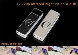 Discount night vision flash - USB DISK Camera with Night Vision HD 720P U disk Mini DVR USB Flash Drive Pinhole Camera video recorder 30pcs
