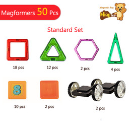 $enCountryForm.capitalKeyWord Canada - Free Shipping 50 PCS Mag Pieece Standard Set 3D Magnetic Building Blocks toys
