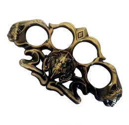 $enCountryForm.capitalKeyWord UK - Boxing copper Hell detective Constantine Steel Brass knuckle dusters Self Defense Personal Security Women's Men's self-defense punch button