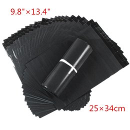 100 unids / lote 25 * 34 cm Gris Oscuro Bolsas de Correo Poli Plástico Envoltura Express Bolsas de Mensajero Bolsas de Alta Calidad Gratis en venta