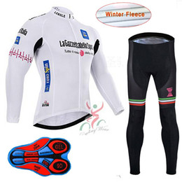 Tour De Italy 2017 Cycling Winter Thermal Fleece Jerseys long sleeves  Racing Bike wear mens Cycling bib pants sets maillot ciclismo 5052508f7