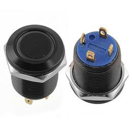 Chinese  Black 12mm 2A 36V Blue LED Lighted Ring Illuminated Push Button Flat DIY Free shipping, dandys manufacturers