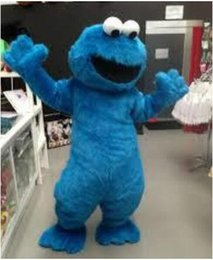 Barato Trajes De Personagens Azuis-Fast Ship In Store feito sob medida barato Sesame Street Blue Cookie Monster Mascot Costume Elmo Character for christmas