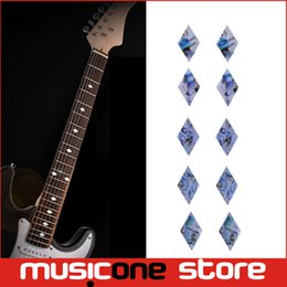 Bass frets online shopping - Guitar Bass Fret Sticker DIY sticker on guitar neck rhombus shape MU1288