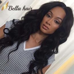 Free shipping wavy hair online shopping - Hair Wigs For Black Women Bouncy Wavy Lace Wigs Peruvian Virgin Human Hair Bella Hair