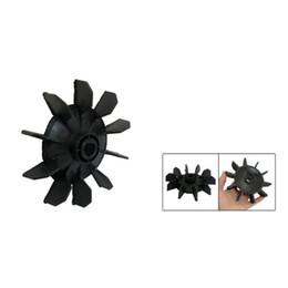 Fans Blades NZ - Wholesale- PROMOTION! Hot New Air Compressor Part Black Plastic 14mm Inner Dia,Ten Vanes Motor Fan Blade