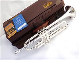 Vente en gros Bach TR-190GS Trompette Sib De Haute Qualité Plaqué Argent B Plat Trompette Professionnelle Instruments De Musique Haut En Laiton Trompette Trompette