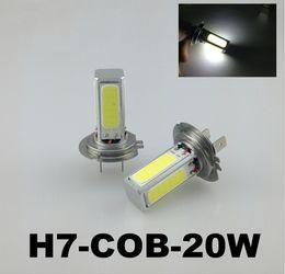 Discount car lights - Super High Power H7 H4 20W COB LED Car Daytime Running Light DRL White LED Auto Car Bulb Fog Lamps Driving Light