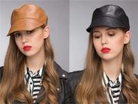 Fallen Hats Australia - Stand Focus Women Faux Leather Military Army Cadet Hat Newsboy Cap Ladies Fashion Fall Winter Black Brown Stylish Cool