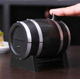 Wine Toothpick Holder Canada - wholesale HOT selling Best Wine Barrel Type Automatic Toothpick Bucket Toothpick Holder Free shipping CYB39