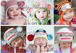 Costumes De Bébé Animaux Pas Cher-enfants accessoires pour cheveux Chapeaux 24 Styles Newborn Infant bébé hibou Knit Beanie Hat Photographie Props Costume main enfants Ca animale
