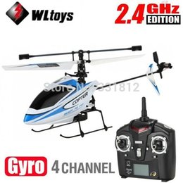 Remote Control Helicopter Models Canada - High Quality WLtoys Upgraded Version V911 4CH 2.4Ghz Single Blade Propeller Radio Remote Control RC Helicopter w GYRO RTF Mode 2