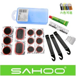 Wholesale Brand New Bike Bicycle Flat Tire Repair Kit Tool Set Kit Patch Rubber Portable Fetal Best Quality cycling