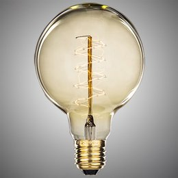 500lm antique vintage edison light bulb 40w 220v 110v radiolight large squirrel cage tungsten home decoration drop shipping - Antique Light Bulbs